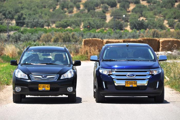 תוספת מבחן דרכים השוואתי: פורד אדג' פוגש את סובארו אאוטבק - וואלה! רכב GE-49