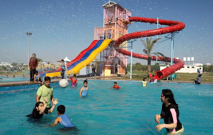 עזה Photo: עולם המים של חמאס: פארק שעשועים הוקם ברצועת עזה