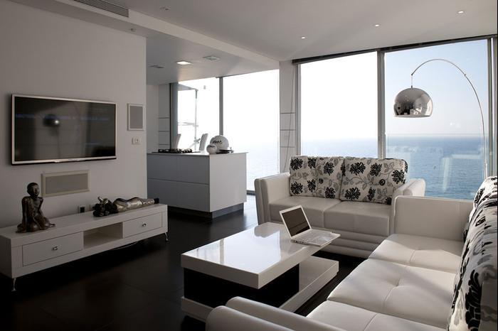 מבריק חדר משלהם: דירה בבת ים על קו המים - וואלה! בית ועיצוב OW-53