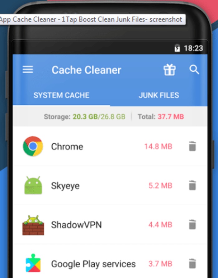 App Cache Cleaner (צילום מסך)
