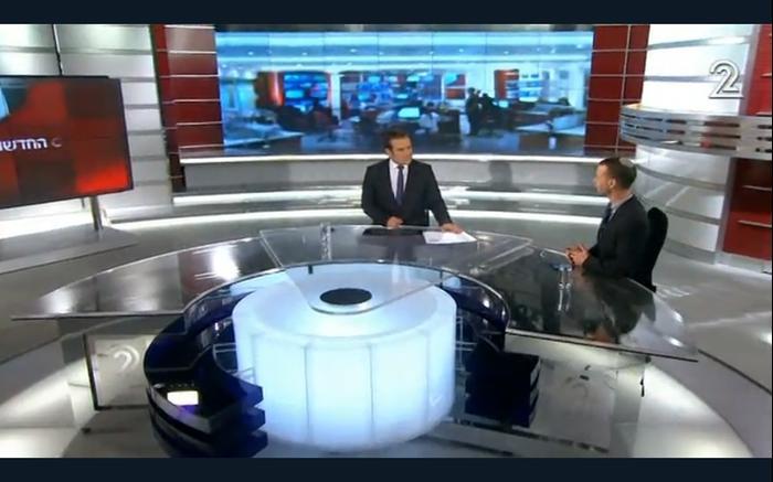 חדשות 2 Image: וואלה ברנז'ה עם הצצה ראשונה לאולפן החדש של חדשות 2