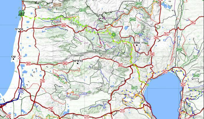 רק החוצה מפות טיולים בארץ להורדה בחינם - וואלה! תיירות TT-41