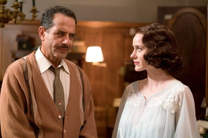 "גברת מייזל המופלאה עונה 2, The Marvelous Mrs. Maisel, רייצ'ל ברוסנהן, טוני שלהוב (יח""צ)"