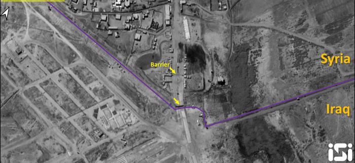"""דוח מודיעין עוסק במתחם חדש שנבנה בחודשיים האחרונים בגבול סוריה-עיראק, במרחק של כ-2 ק""""מ מהגבול הרשמי בין המדינות באבולכמאל אשר אינו פעיל (אתר רשמי , ISI)"""
