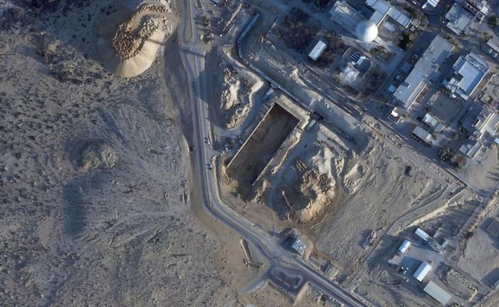 Des images satellites révèlent des travaux d'excavation au réacteur nucléaire de Dimona, le 25 février 2021. AP