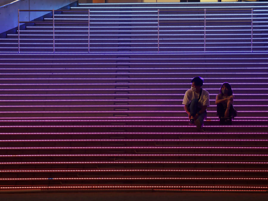 זוג בטוקיו בצל התפשטות הקורונה, אוגוסט 2020
